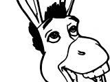 Shrek Donkey Coloring Page