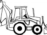 side bulldozer coloring page