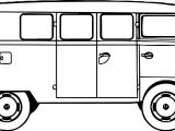 Side Minibus Coloring Page