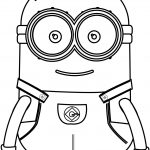 Small Cute Minions Coloring Page