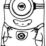 Smile Minions Coloring Page