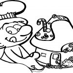 Smulsmurf House Cake Coloring Page