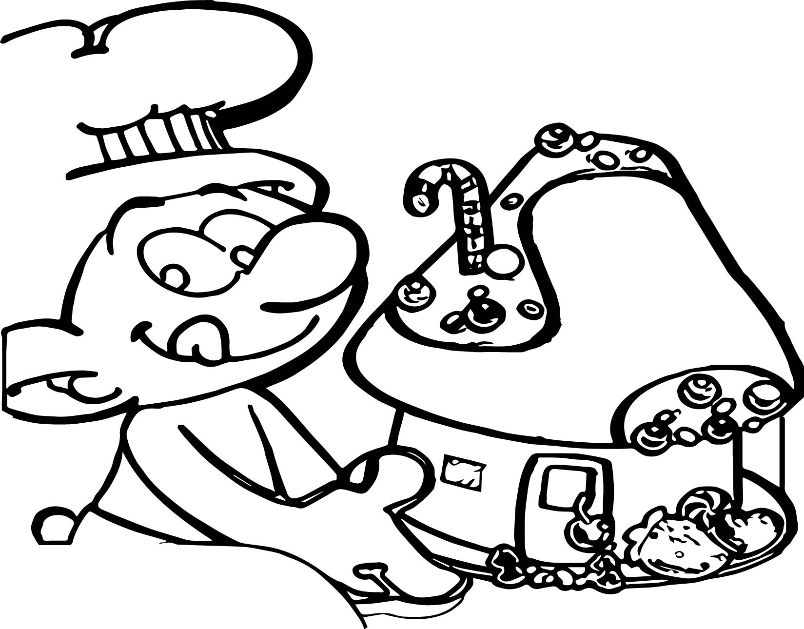 Max And Ruby Bunny Cakes Coloring Pages | giftsforsubs