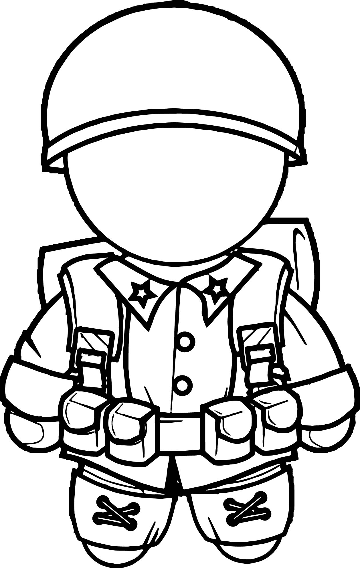 Soldier Figure Coloring Page
