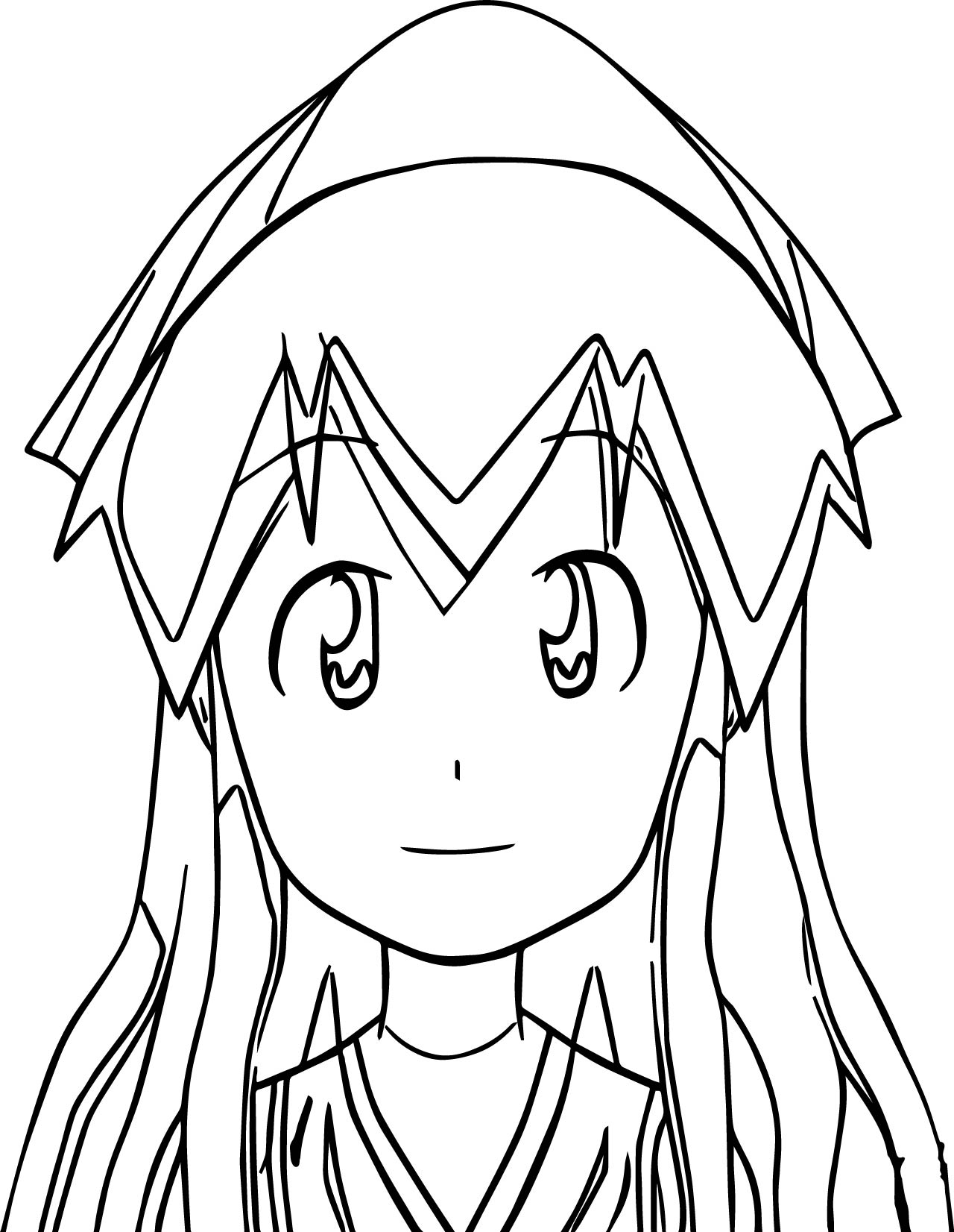 Squid Girl Coloring Page