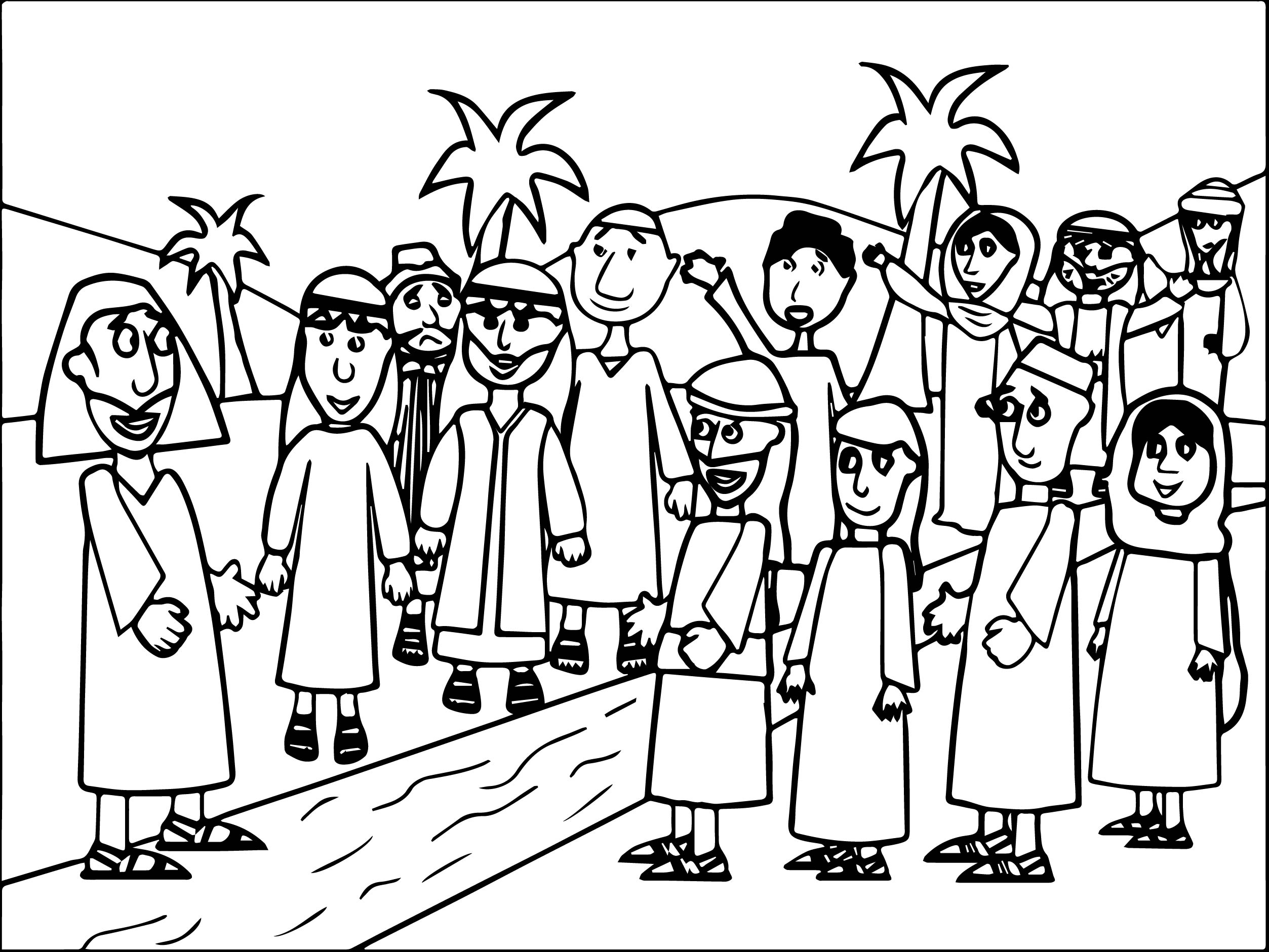 Story Zacchaeus Jesus Coloring Pages