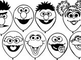 street balloons coloring page