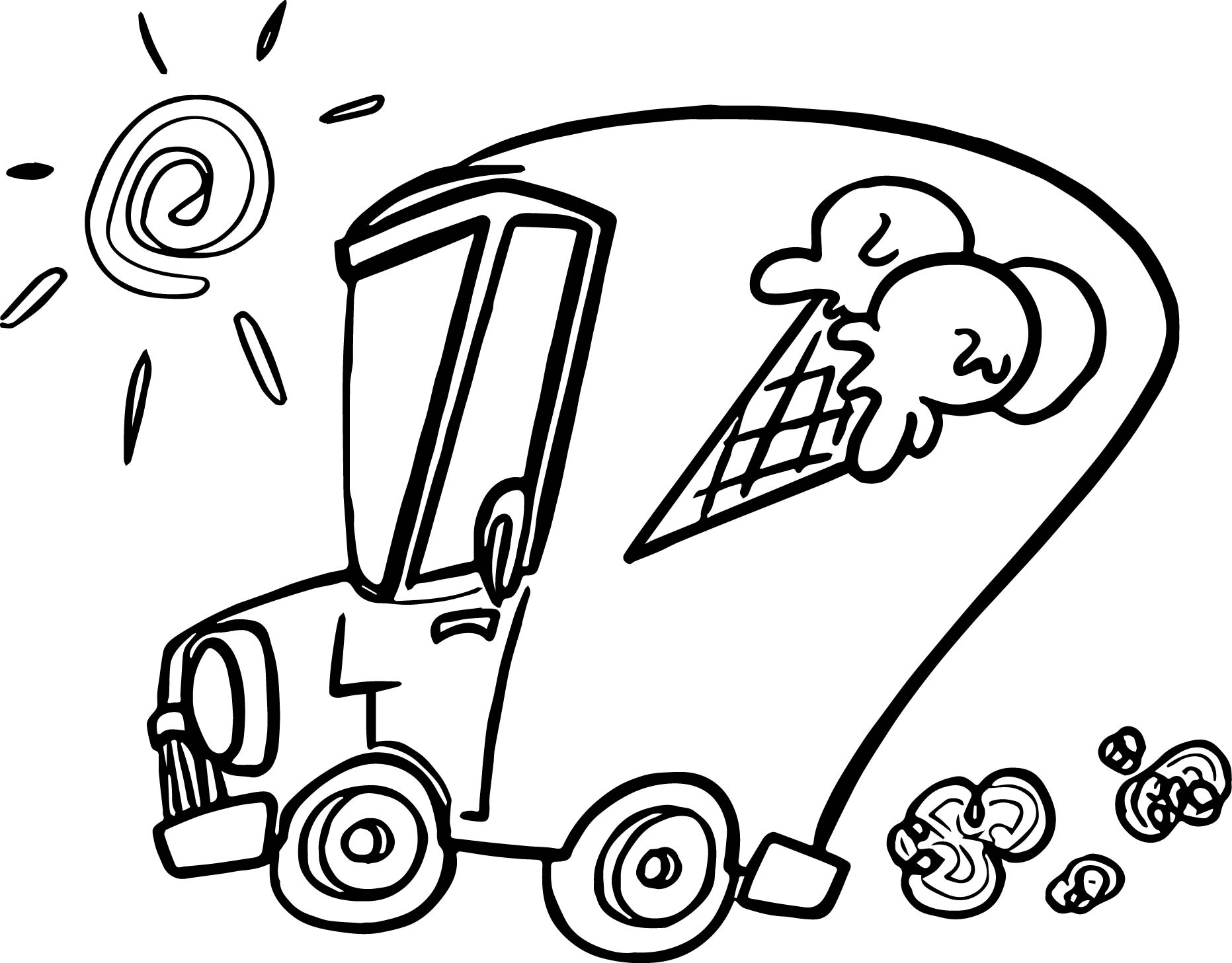 summer ice cream car coloring page wecoloringpage