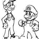 Super Mario And Luigi Coloring Page