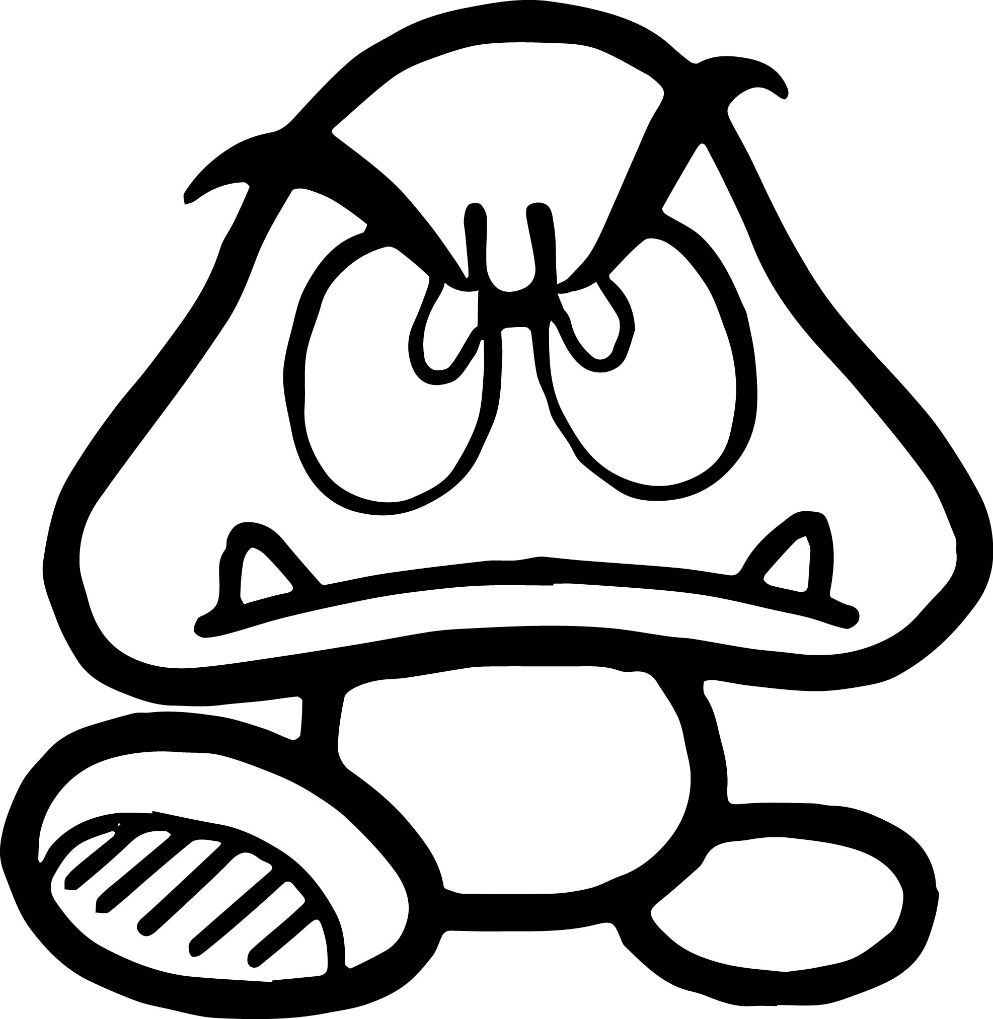 Super Mario Bad Character Coloring Page