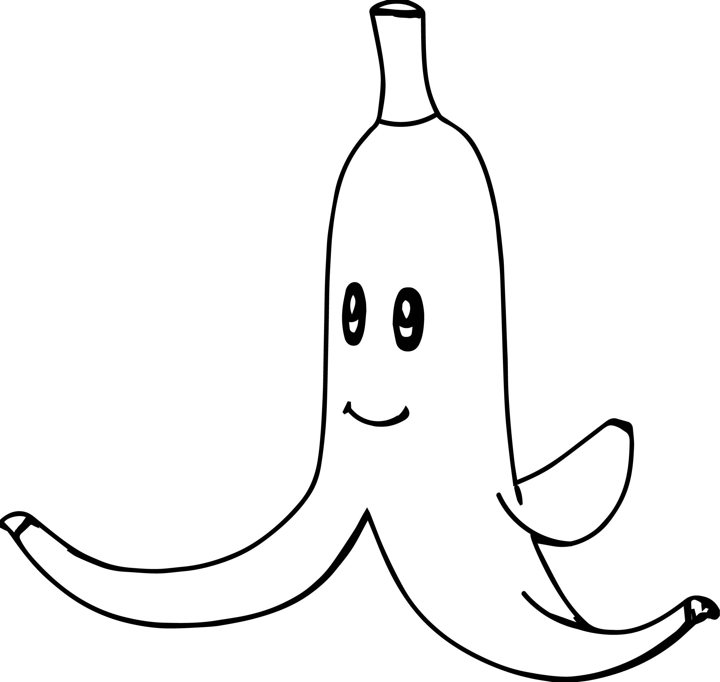 super mario bros banana coloring page - Mario Kart Coloring Pages