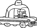Taxi Driver Coloring Page