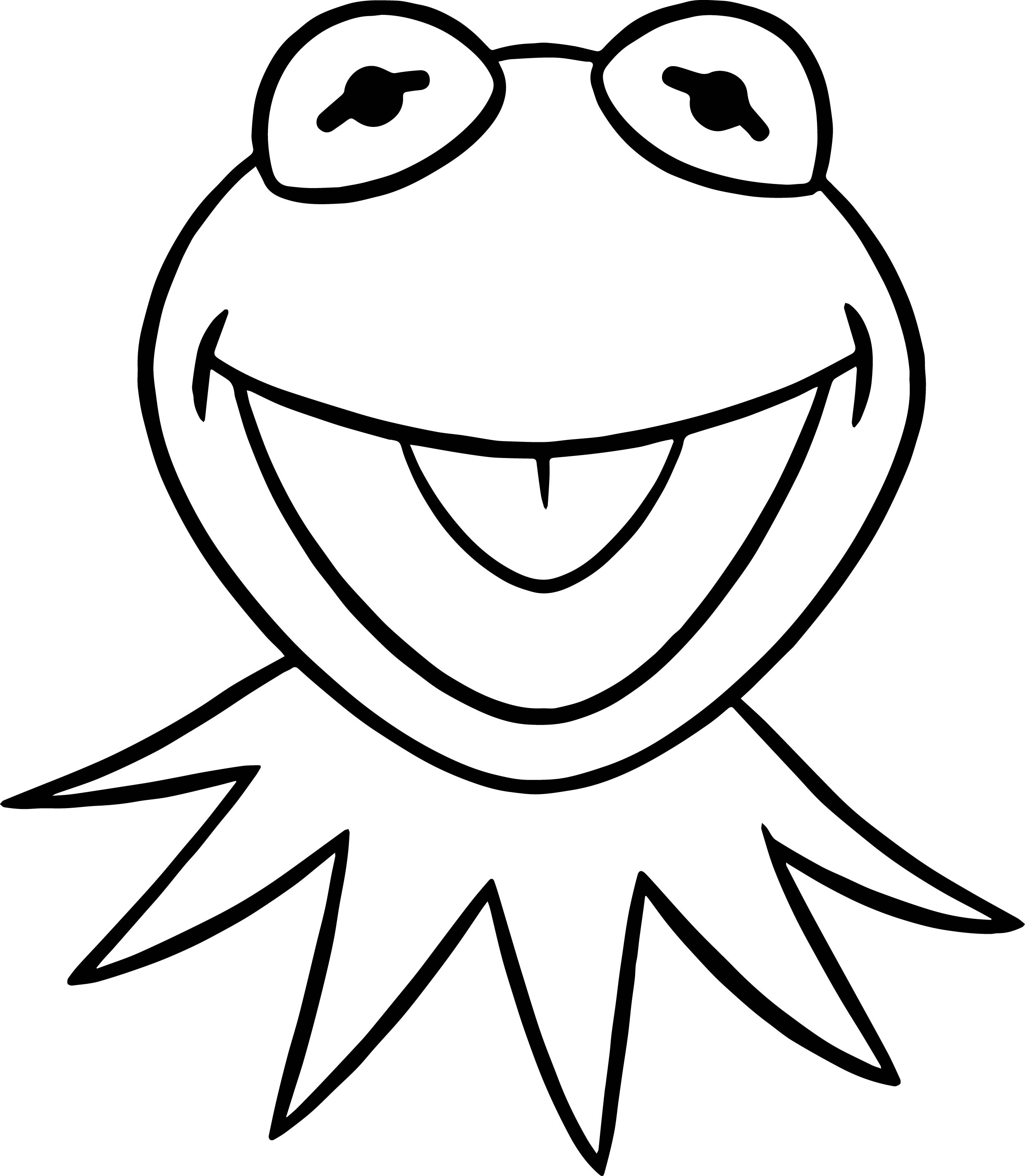 The Muppets Kermit The Happy Frog Coloring Pages | Wecoloringpage