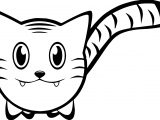 Tiger Face Cat Coloring Page