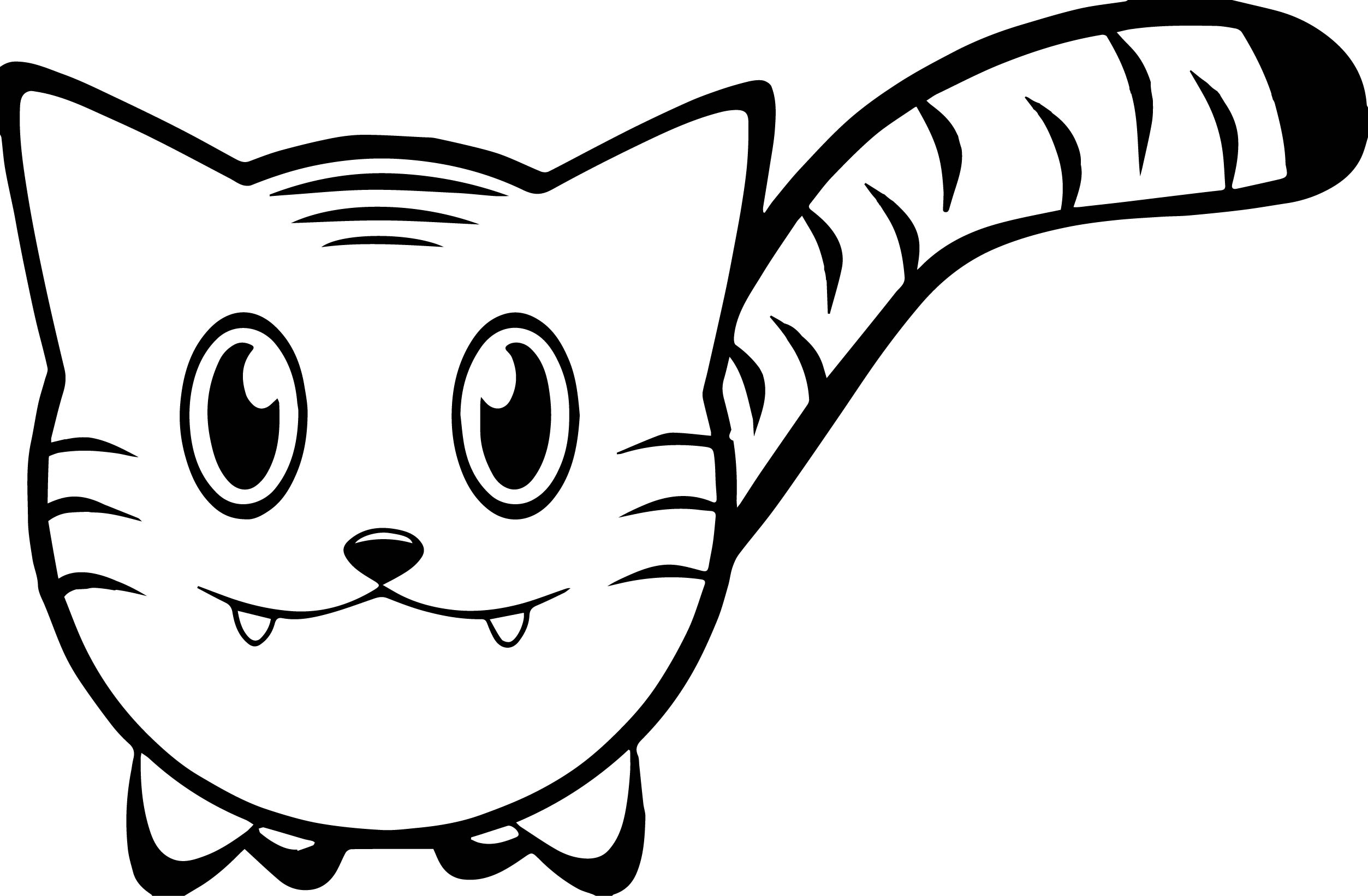 Cat Face Coloring Page Coloring Coloring Pages