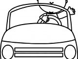 Toy Car Child Coloring Page