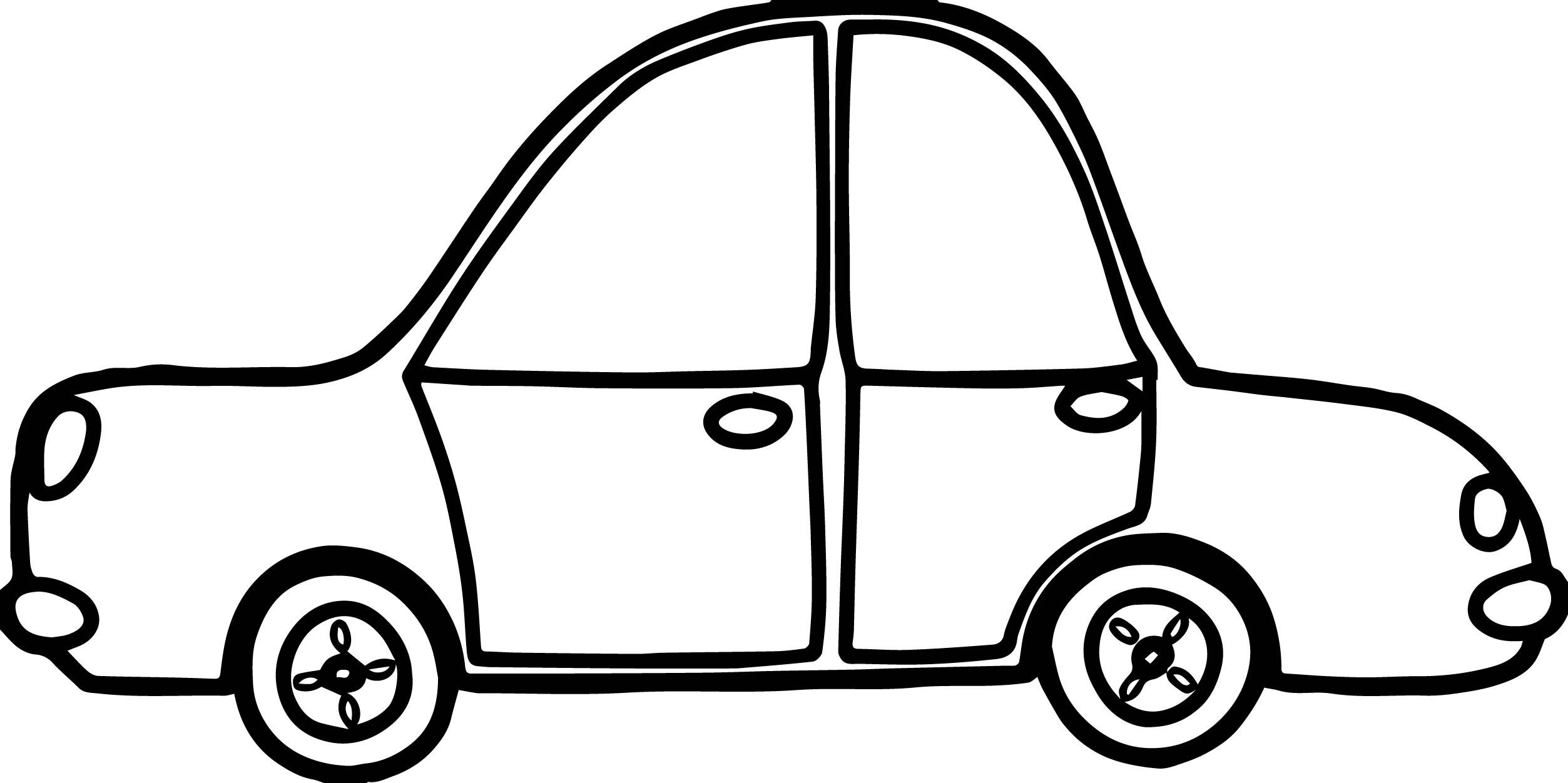 Toy Car Side Coloring Page
