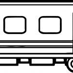 Train Locomotive Coloring Page