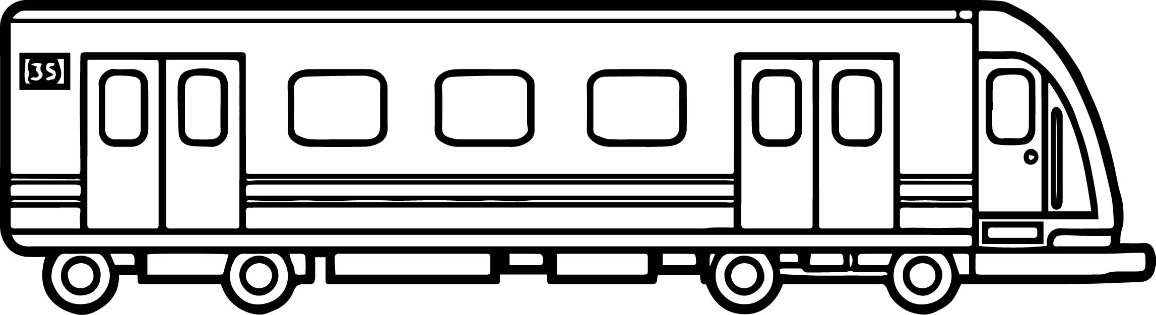 Train Locomotive Coloring Page
