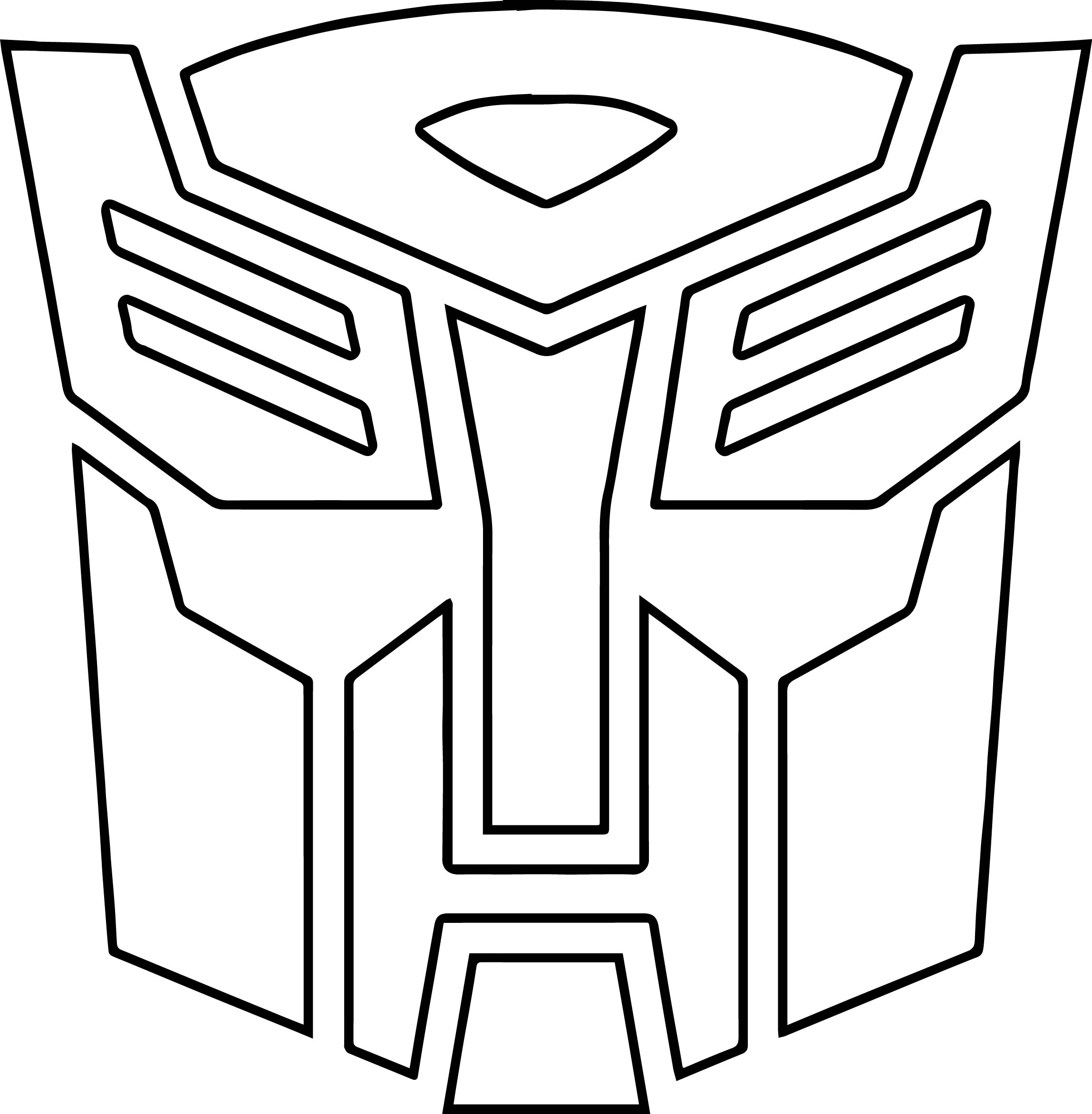 Transformers Autobot Logo Coloring Page on halloween clip art