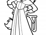 Trenk The Little Knight Tekla Girl Coloring Page