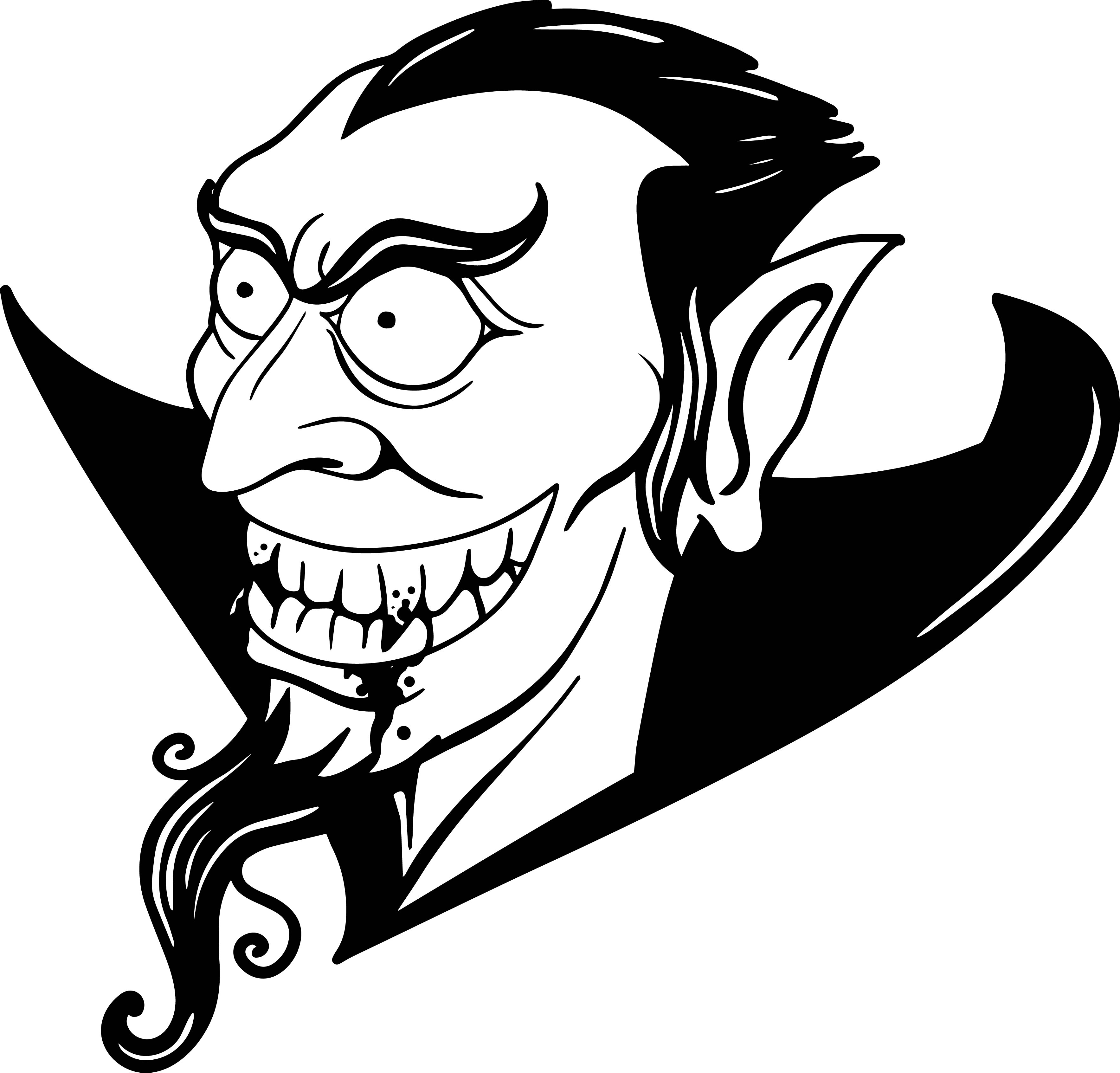 Vampire Head Coloring Page