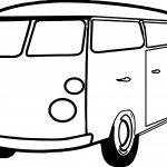 Van Minibus Coloring Page