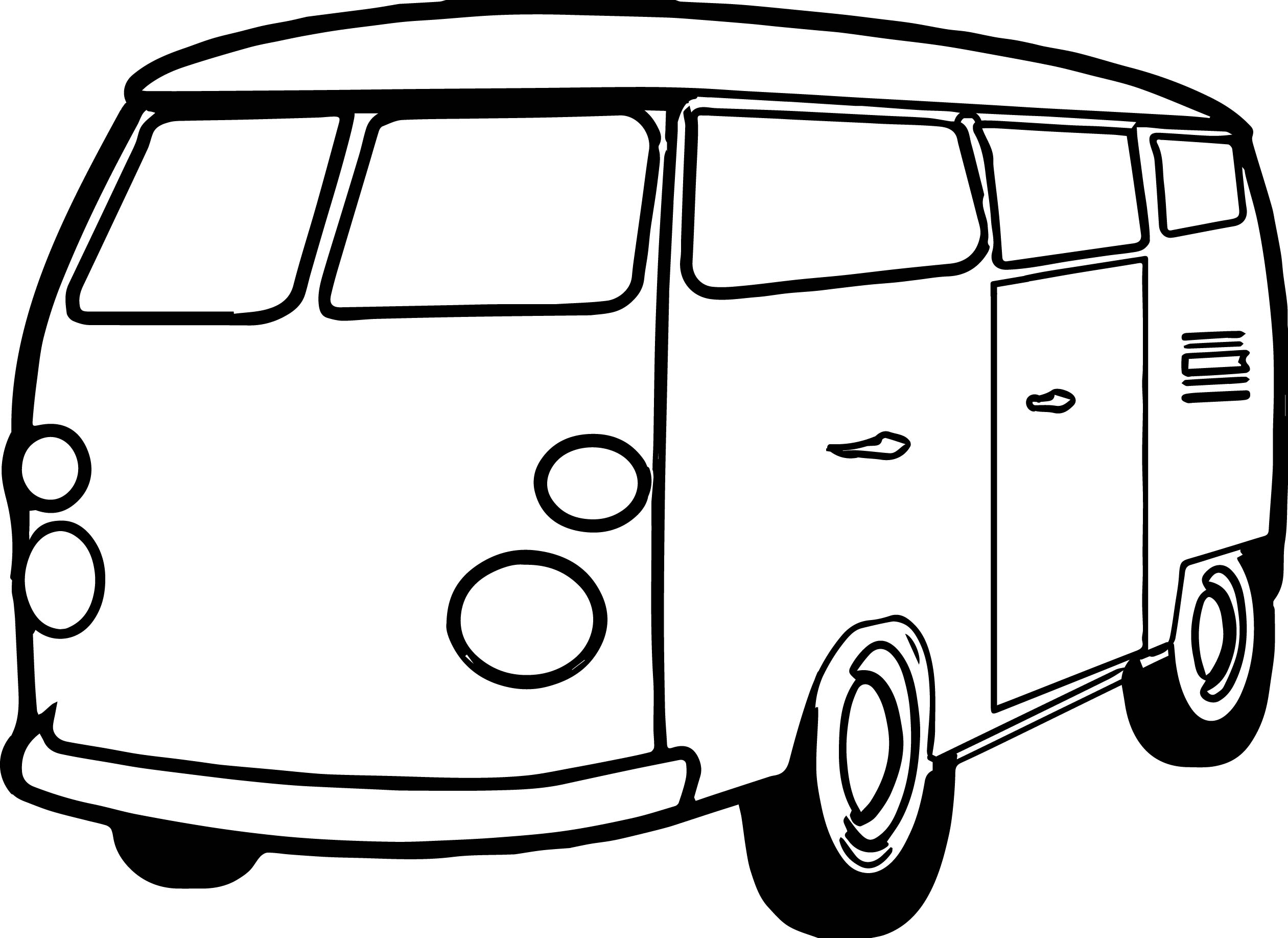 printable coloring pages minivan  printable  best free