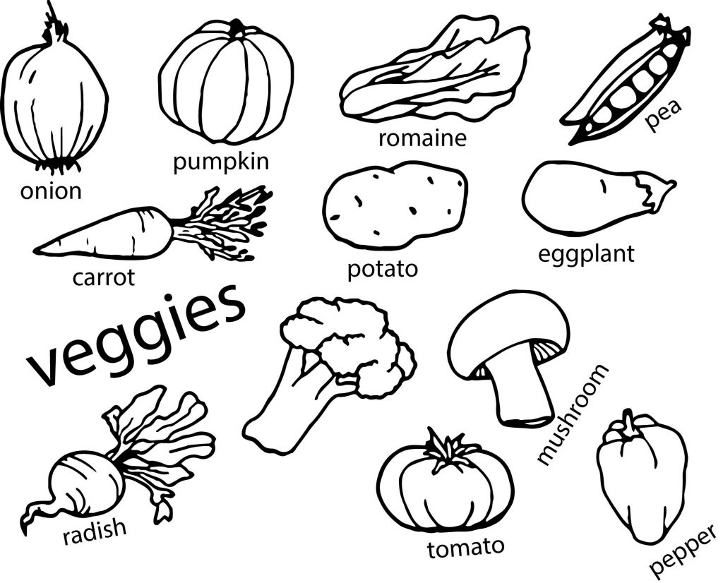 coloring pages fruits and vegetables vegetables coloring page