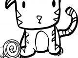 Very Cute Baby Tiger Coloring Page