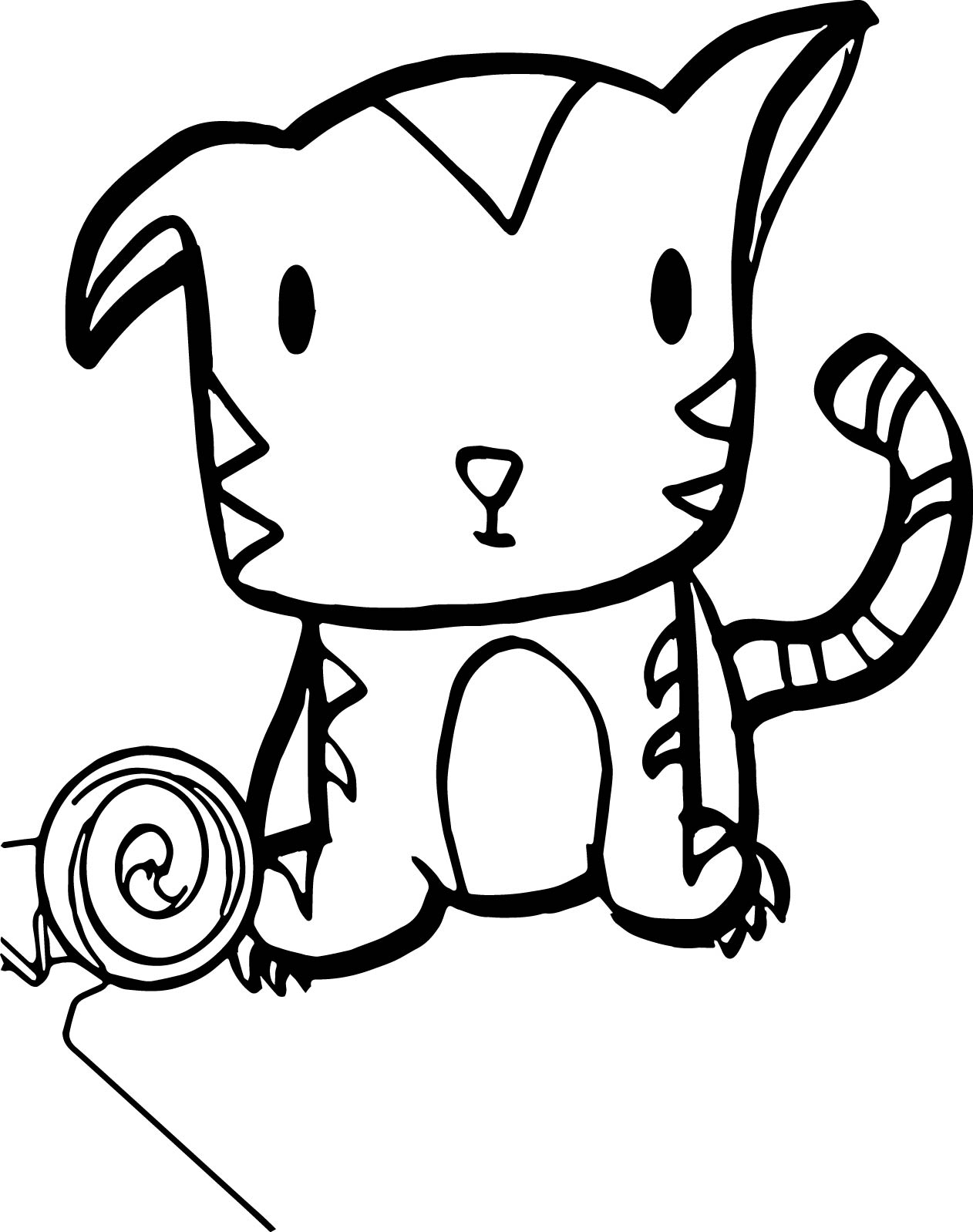 Very cute baby tiger coloring page for Coloring pages of tiger