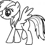 Walking My Little Pony Coloring Page