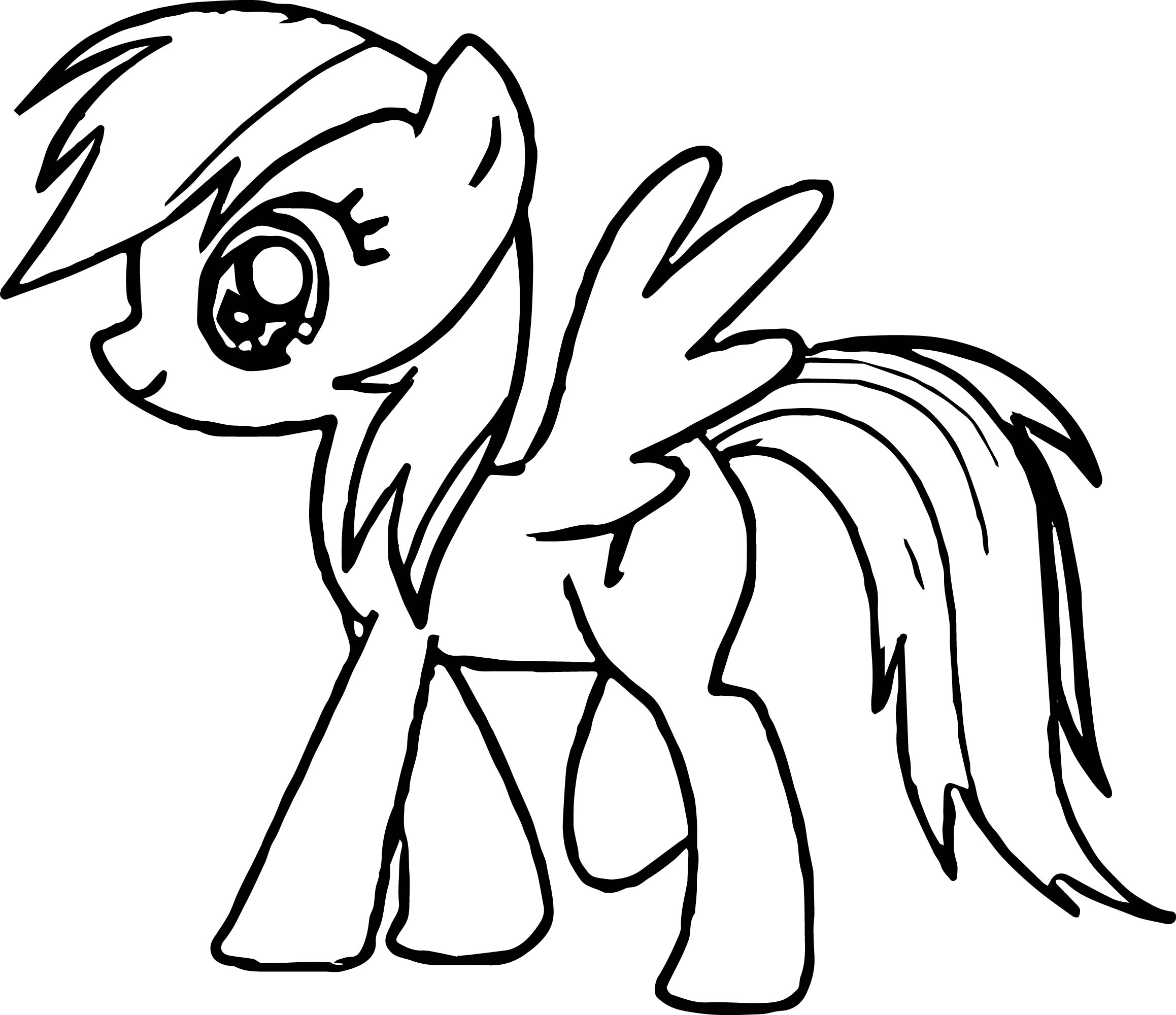 walking my little pony coloring page - Pony Coloring Pages