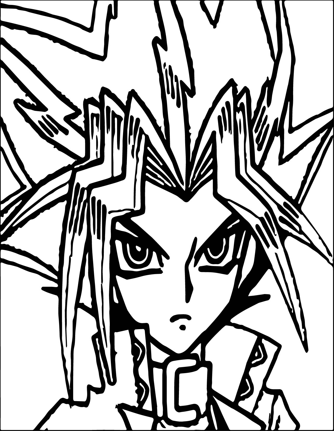 Free coloring pages yugioh - Yugioh Coloring Pages