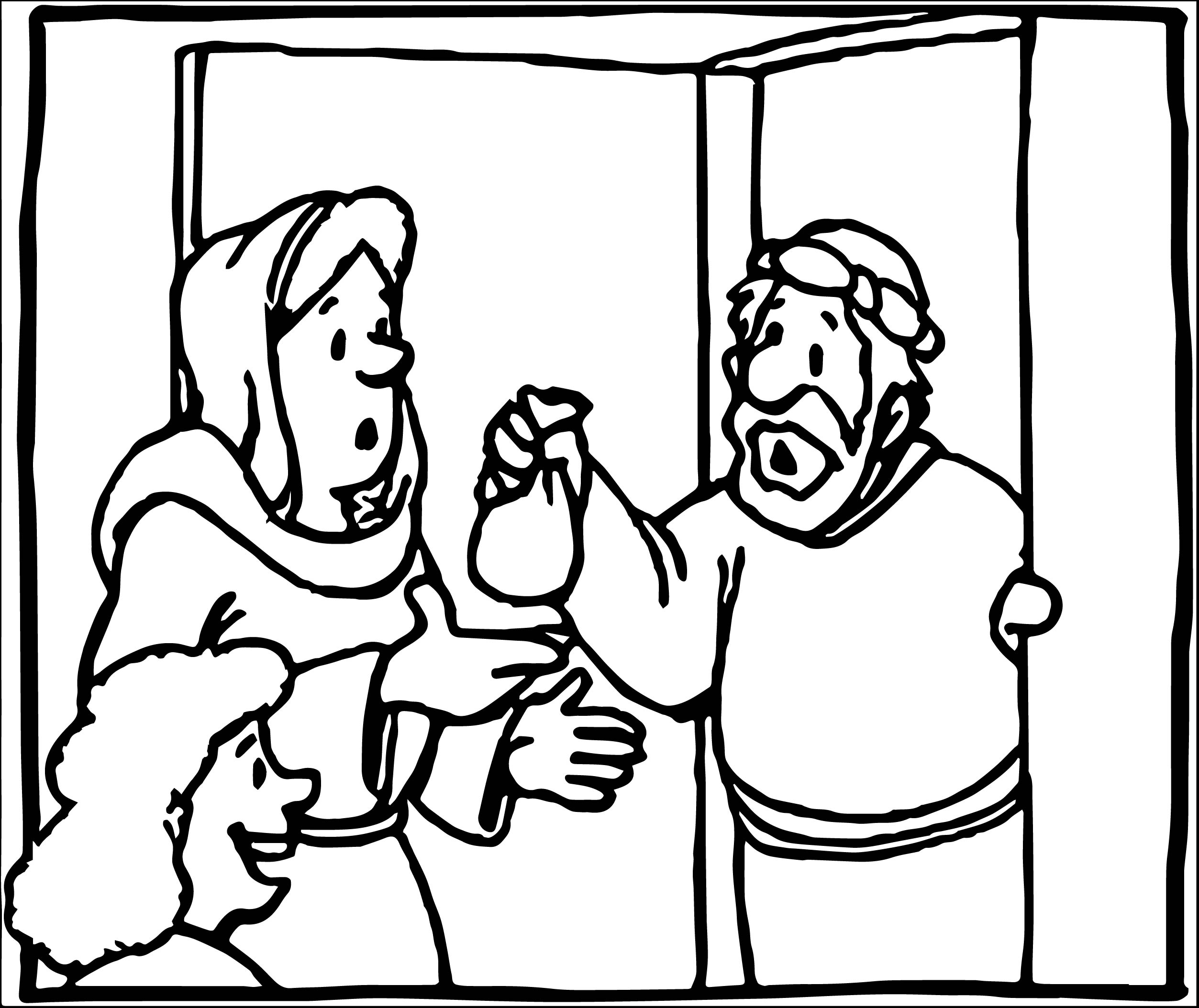 Coloring pages zacchaeus - Zacchaeus Jesus What Coloring Page