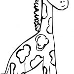 Zoo Baby Giraffe Coloring Page