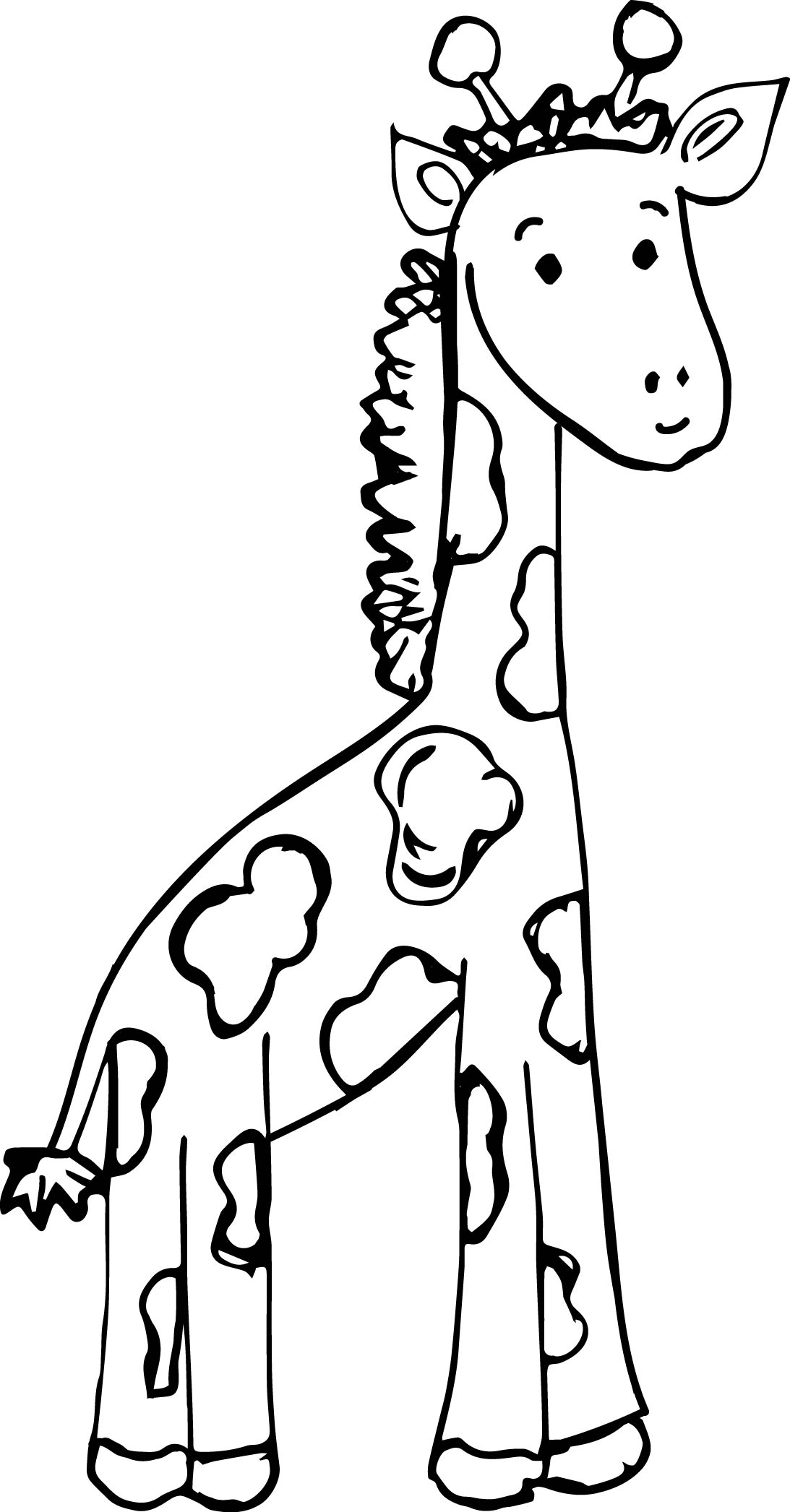 Giraffe Color Page Giraffe Coloring Page Animals Baby Giraffe Coloring Pages