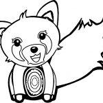 Zoo Fox Cartoon Coloring Page