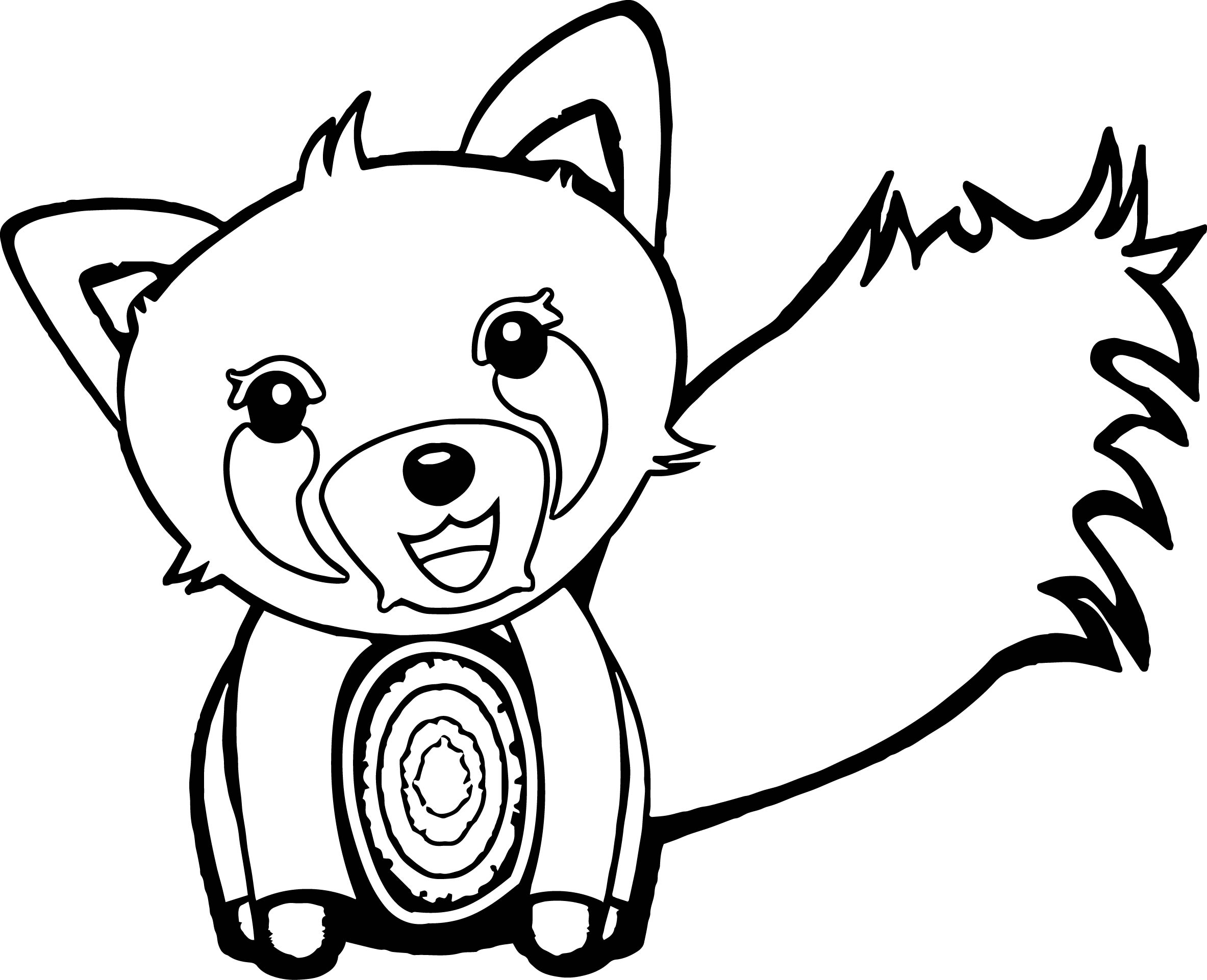 Zoo Fox Cartoon Coloring Page