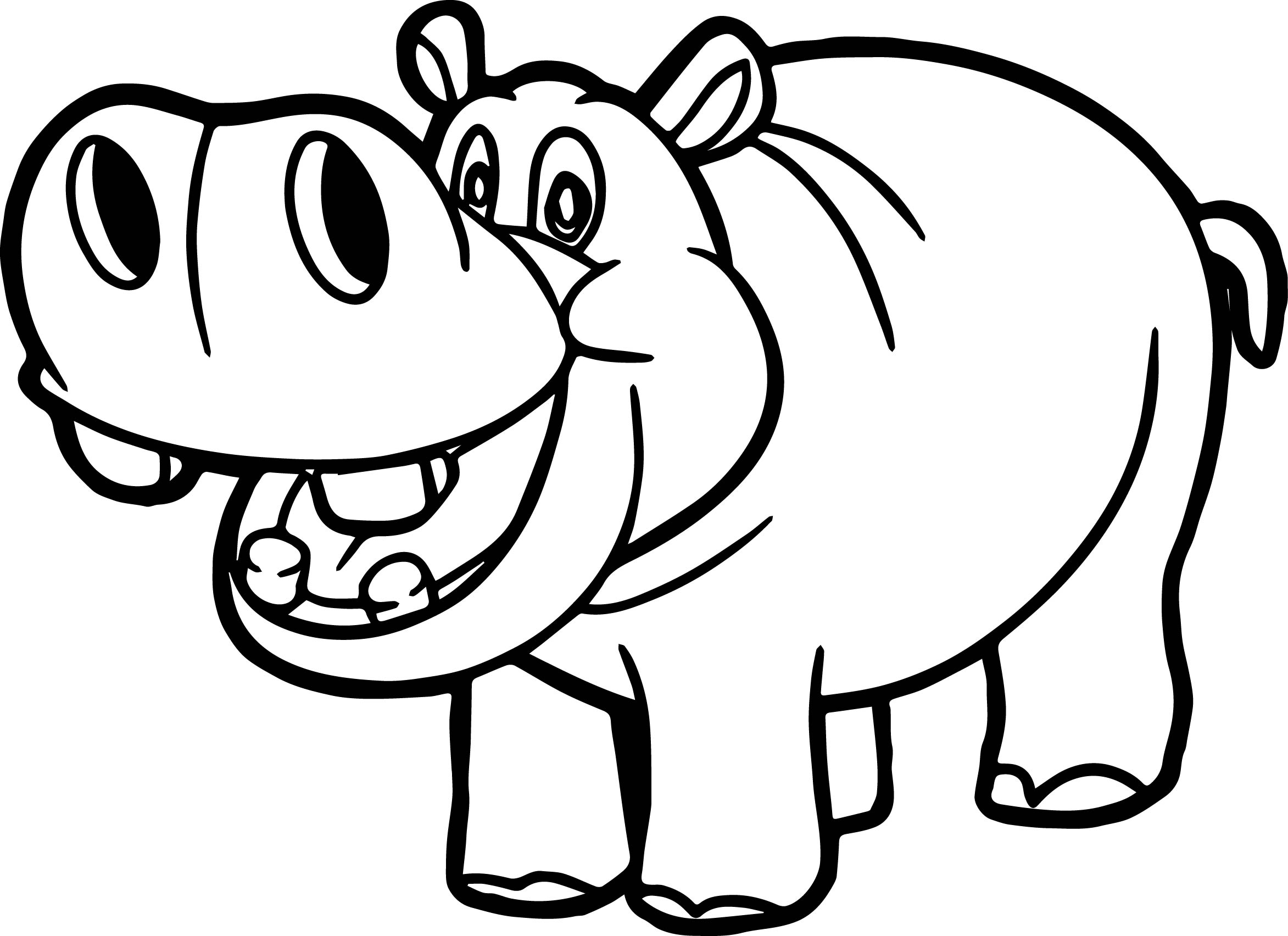 Fresh Hippopotamus Coloring Pages Coloring Page Of A Hippo Hippo Coloring Page
