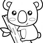 Zoo Koala Coloring Page