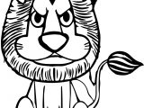 zoo lion angry coloring page