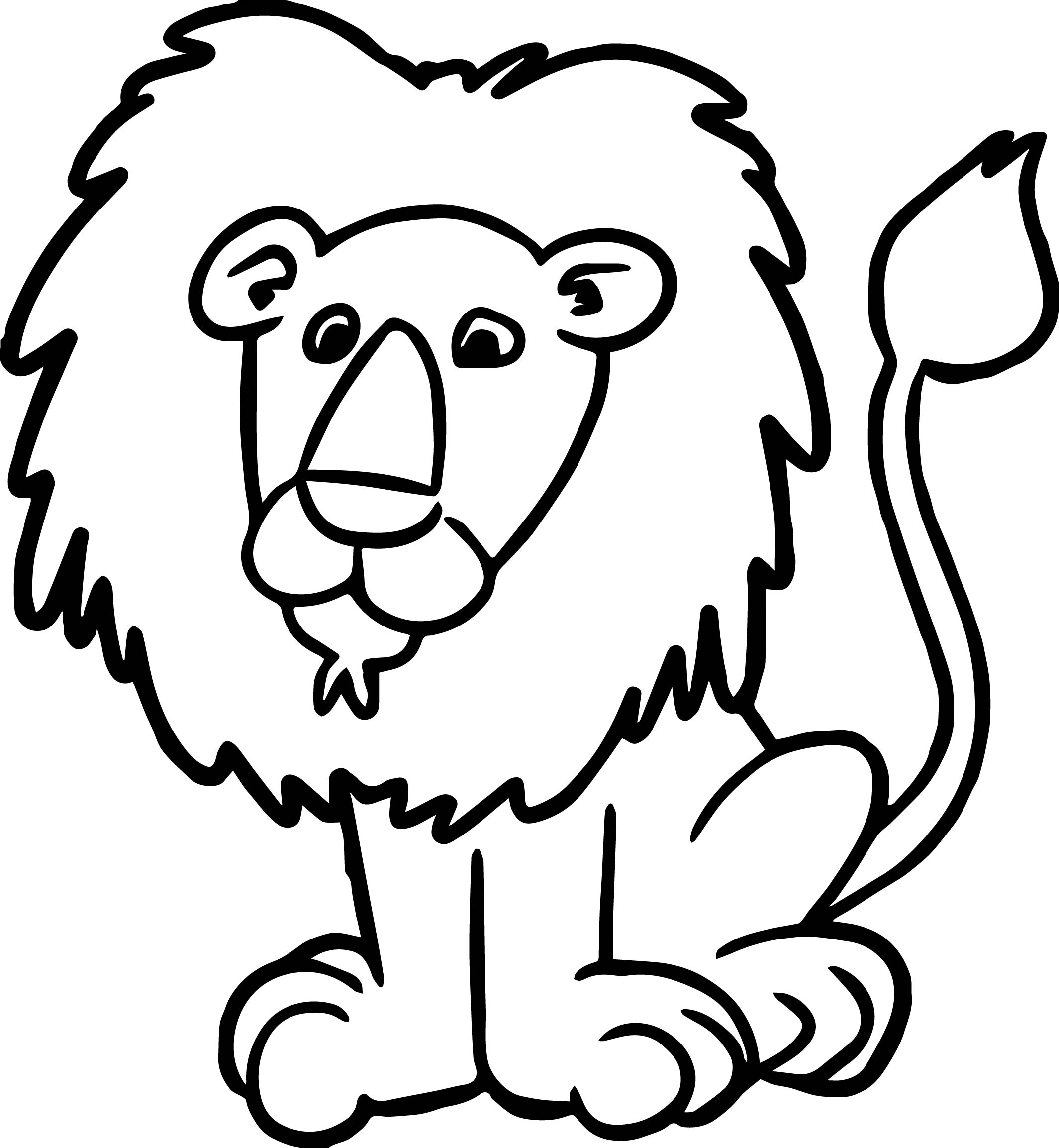 Zoo Lion Coloring Page
