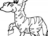 Zoo Zebra Coloring Page