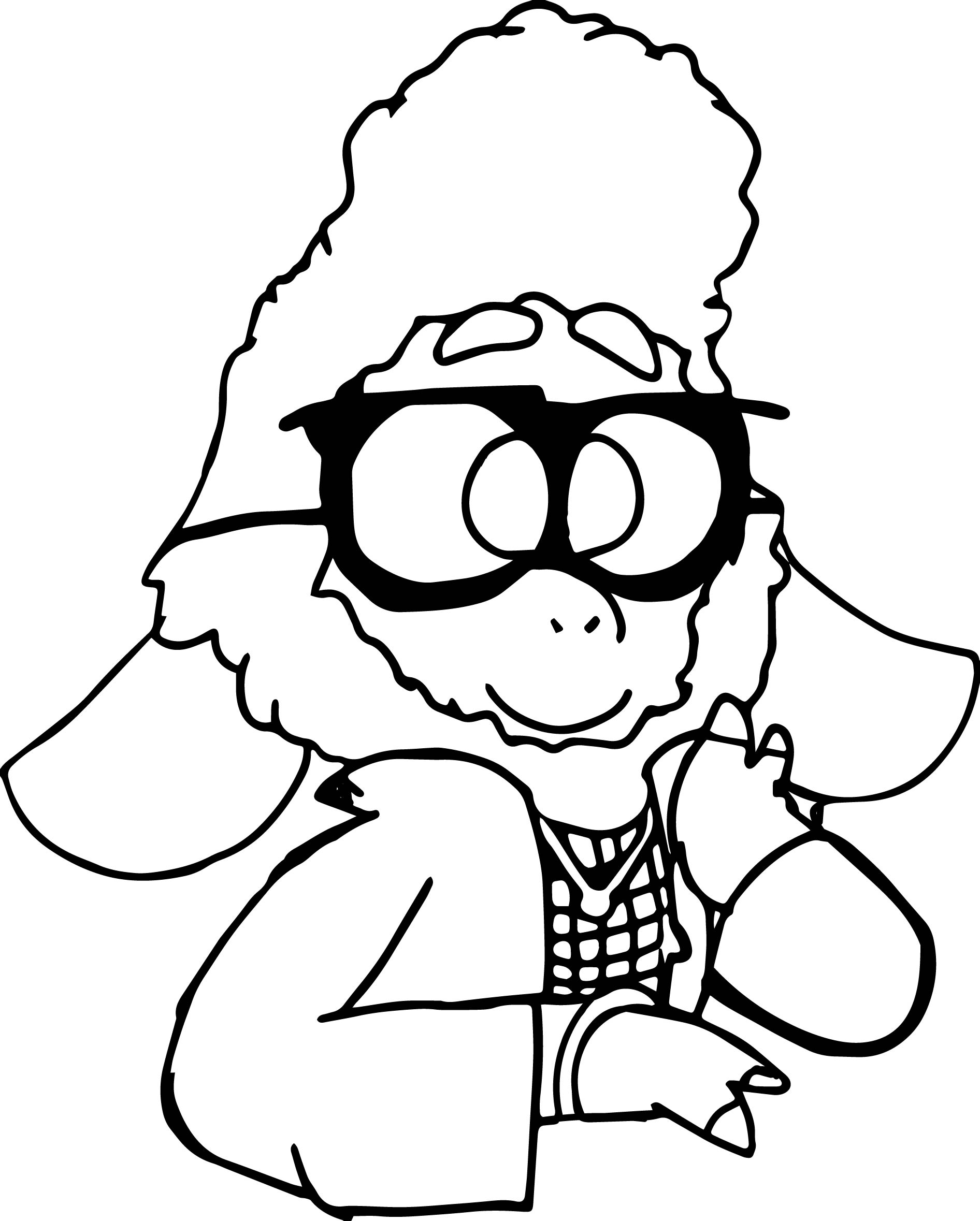 92 Sheep Face Coloring Page