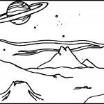 alien landscape coloring page