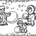 Beautiful childs in winter coloring page