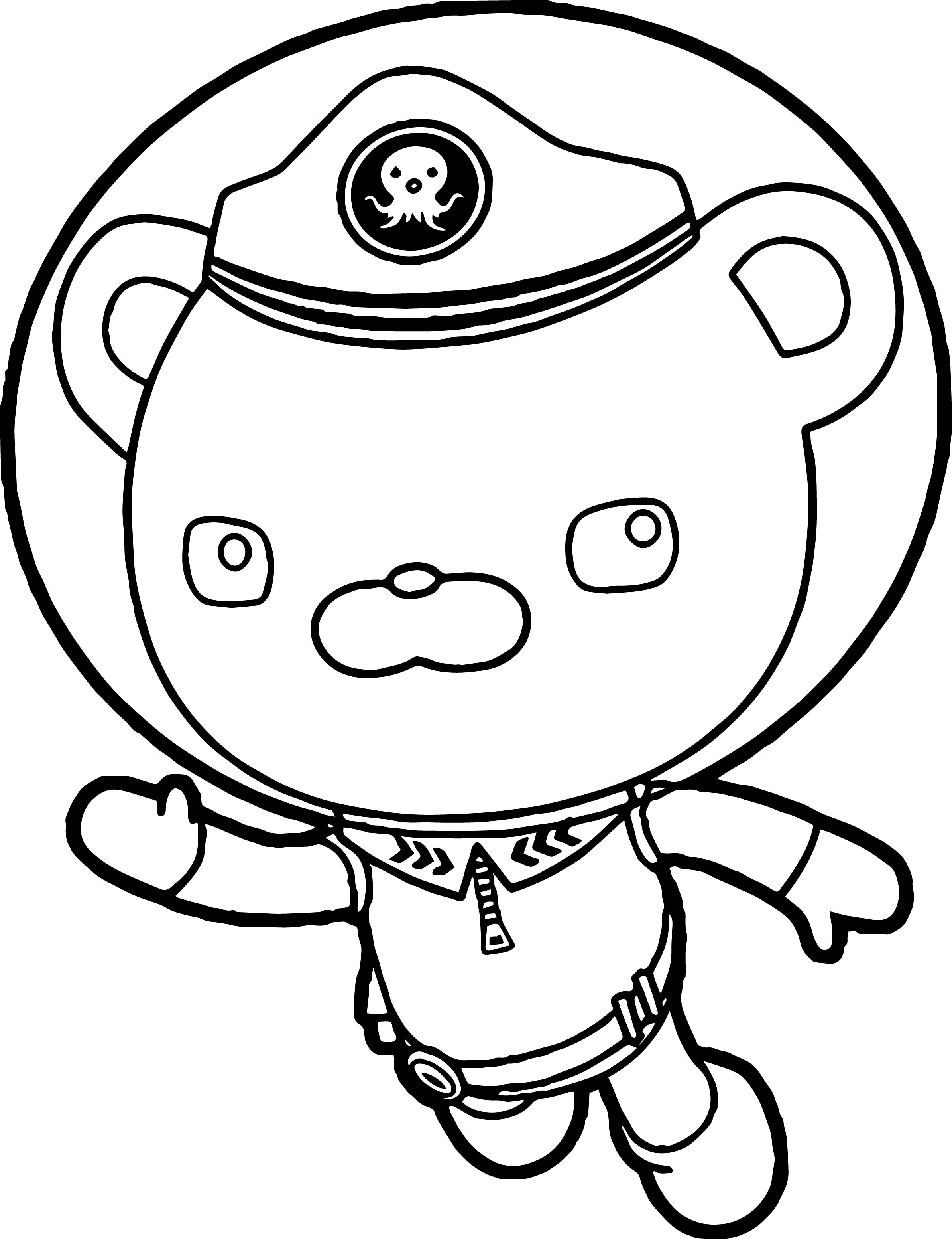 Captain Barnacles Helmet Underwater Coloring Page