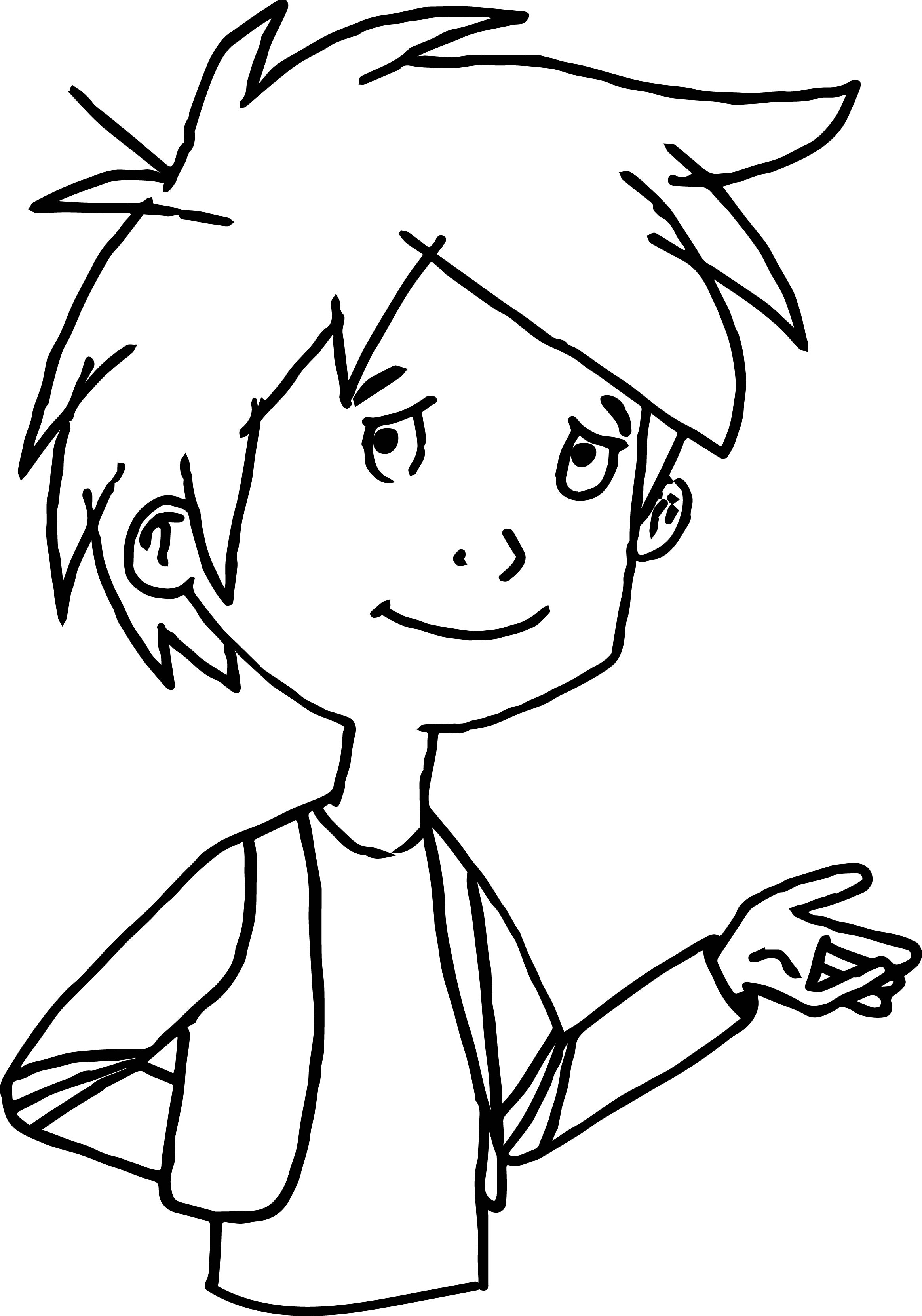 Child Trenk In Robe Coloring Page
