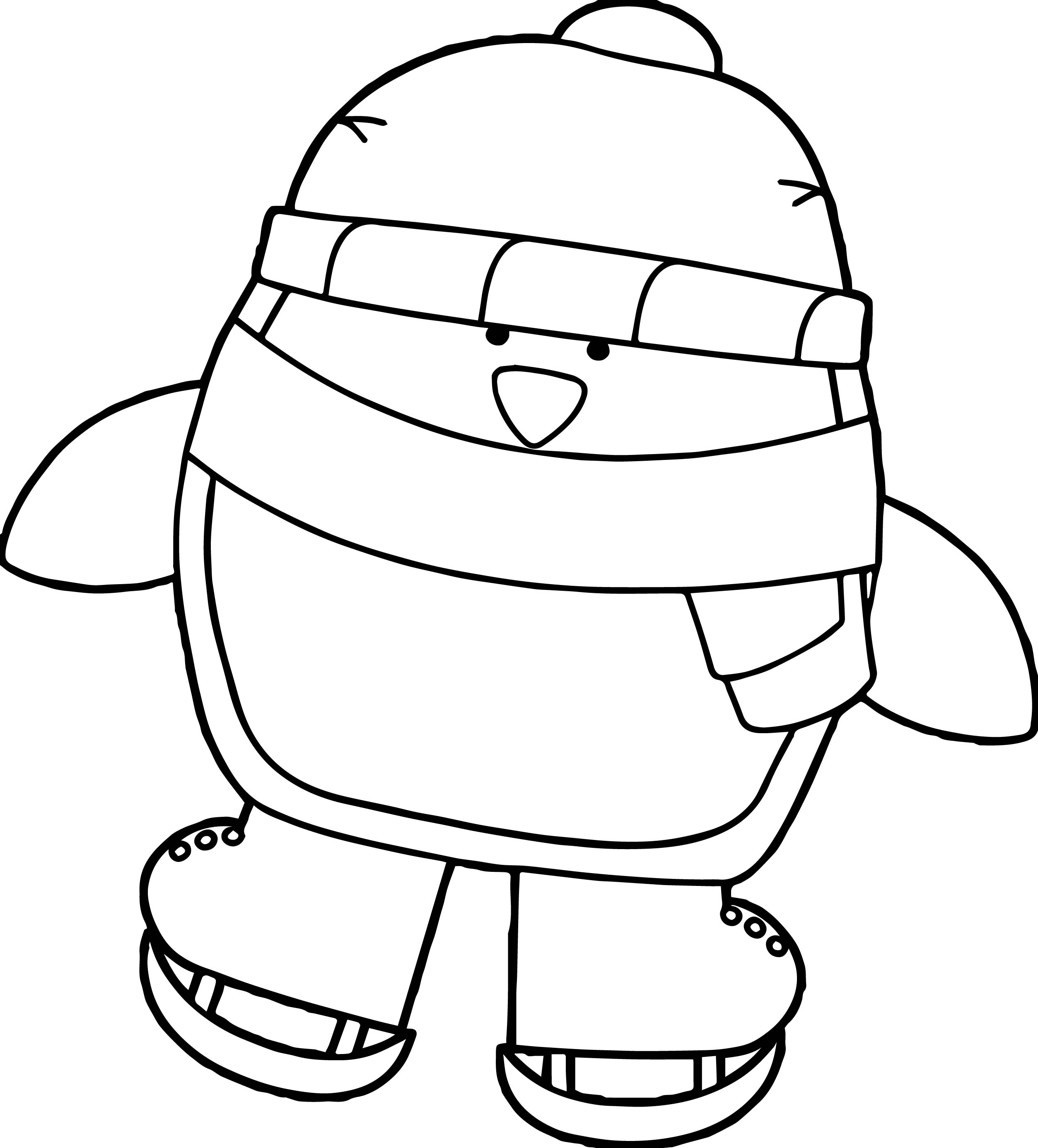 cute penguin ice skating coloring page wecoloringpage